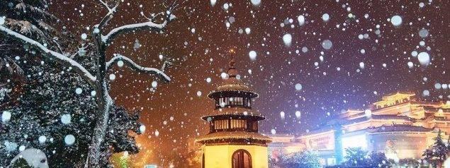 扬城今日大雪纷飞